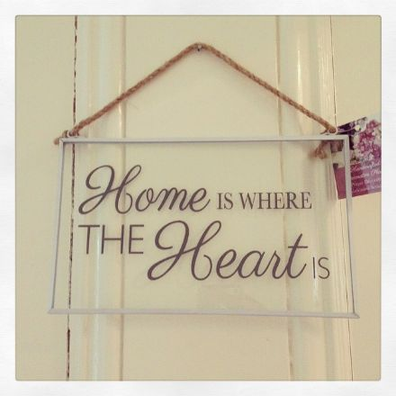 Just £2 Shabby Chic Glass Slogan Hanging Plaques